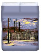 Old New Orleans Electric Plant Duvet Cover