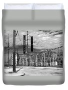 Old New Orleans Power Plant Duvet Cover