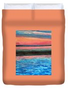 Old Orchard Beach Maine Snow Cover Duvet Cover