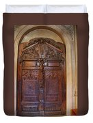 Old Ornamented Door Duvet Cover