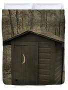 Old Outhouse Out Back Duvet Cover