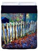Old Picket Fence Greenbrier School Duvet Cover