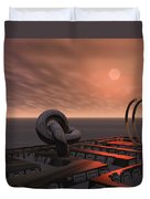 Old Pier And Sculptures Duvet Cover