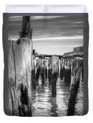 Old Pier In Provincetown Cape Cod Duvet Cover