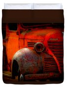 Old Plymouth Red Duvet Cover
