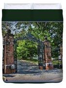 Old Queens Entrance Gate Duvet Cover
