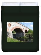 Old Railway Bridge In Silute. Lithuania. Summer Duvet Cover