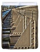 Old Railway Bridge In The Netherlands Duvet Cover
