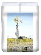 Old Ranch Windmill Duvet Cover