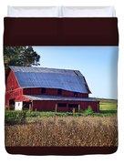 Old Red Barn Near Etowah Nc Duvet Cover