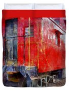 Old Red Caboose Duvet Cover