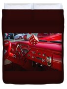 Old Red Chevy Dash Duvet Cover