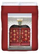 Old Red Door Duvet Cover