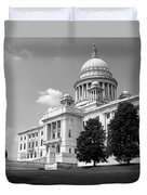 Old Rhode Island State House Bw Duvet Cover