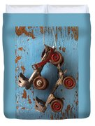 Old Roller Skates Duvet Cover by Garry Gay