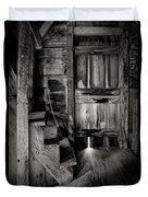 Old Room - Rustic - Inside The Windmill Duvet Cover by Gary Heller