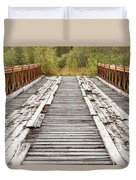 Old Rotten Abandoned Bridge Leading To Nowhere Duvet Cover