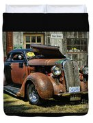 Old Rusty Car At The Old Shop  Ca5083a-14 Duvet Cover