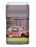 Old Rusty Car Duvet Cover