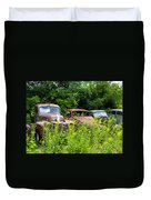 Old Rusty Cars Duvet Cover