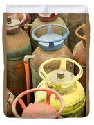 Colorful Fire Extinguishers Duvet Cover