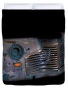 Old Rusty Junk Car In Vivid Colors Duvet Cover by Gunter Nezhoda
