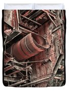 Old Rusty Pipes Duvet Cover