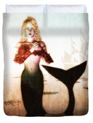 Old Sailors Dream - The Mermaid Duvet Cover