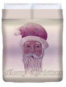 Old Saint Nicholas Greeting Card Duvet Cover by David Dehner
