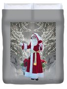 Old Saint Nick Duvet Cover