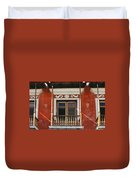 Old San Juan Balcony Duvet Cover