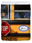 Old School Bus 1 Duvet Cover