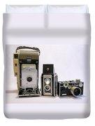 Old School Cameras Duvet Cover