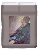 Old School - Contemporary Portrait Duvet Cover
