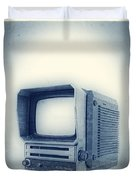 Old School Television Duvet Cover