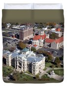 Old Sedgwick County Courthouse In Wichita Duvet Cover