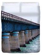 Old Seven Mile Bridge Duvet Cover
