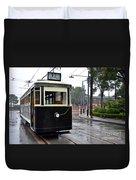 Old Shanghai Trolley Tram Car Rests In Tracks Duvet Cover