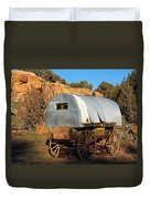 Old Sheepherder's Wagon Duvet Cover