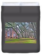 Old Sheldon Church Angled With Tombs Duvet Cover