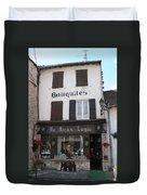 Old Shop In Tournus Duvet Cover
