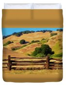 Old Split Rail Fence Duvet Cover by Michael Pickett