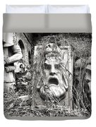 Old Statues In Skopje Duvet Cover