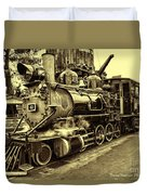 Old Steam Train Duvet Cover