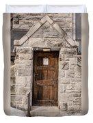 Old Stone Church Door Duvet Cover