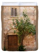 Old Stone House With Plants  Duvet Cover