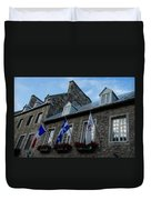 Old Stone Houses In Quebec City Canada  Duvet Cover