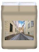 Old Street In Prague Duvet Cover