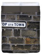 Old Street Sign Duvet Cover