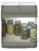 Old Style Vintage Kitchen Glass Jar Canning Duvet Cover